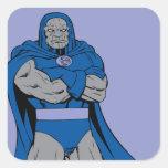 Brazos de Darkseid cruzados Pegatina Cuadrada
