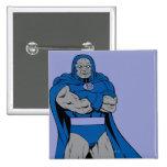 Brazos de Darkseid cruzados Pin Cuadrado