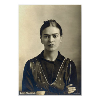 Brazos de Frida Kahlo cruzados Póster