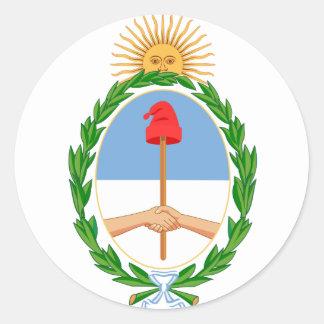brazos de la Argentina Pegatina Redonda