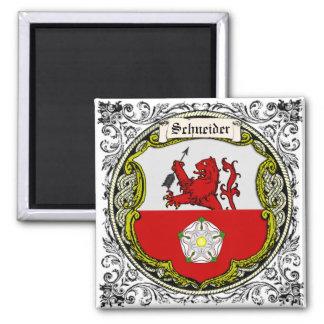 Brazos de la familia de Schneider (Baviera) Imán Cuadrado