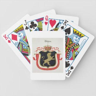 Brazos de la familia real belga de un collectio cartas de juego
