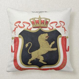 Brazos de la familia real belga de un collectio almohadas