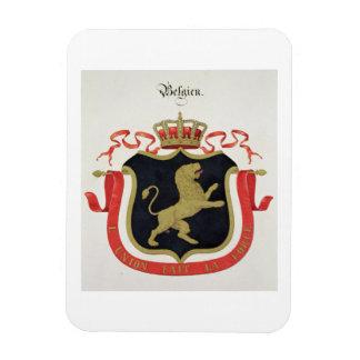 Brazos de la familia real belga de un collectio imán de vinilo
