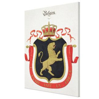 Brazos de la familia real belga de un collectio impresion de lienzo