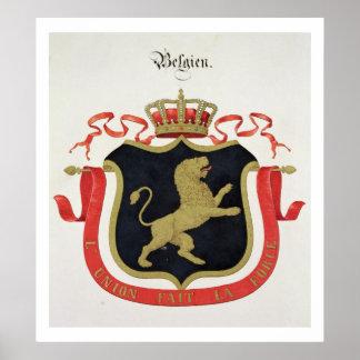 Brazos de la familia real belga de un collectio posters