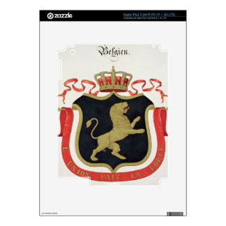 Brazos de la familia real belga de un collectio iPad 3 pegatina skin