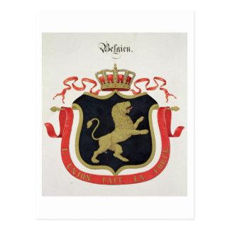 Brazos de la familia real belga, de un collectio tarjetas postales