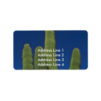 Brazos de un Saguaro Etiqueta De Dirección
