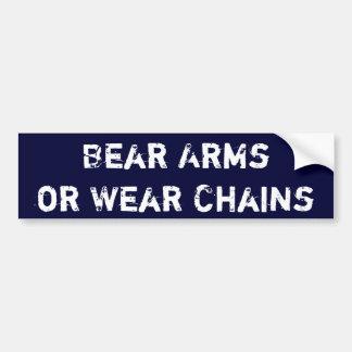 Brazos del oso o cadenas del desgaste pegatina para auto