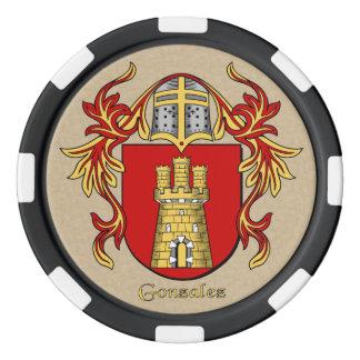 Brazos heráldicos de Gonzalez Fichas De Póquer