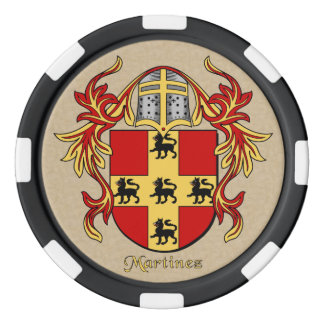Brazos heráldicos de Martínez Fichas De Póquer