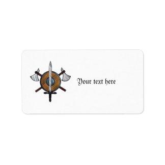 Brazos medievales etiqueta de dirección