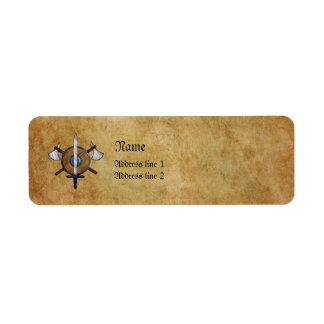 Brazos medievales etiqueta de remite