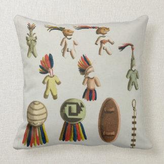 Brazos mexicanos (litho del color) cojín decorativo