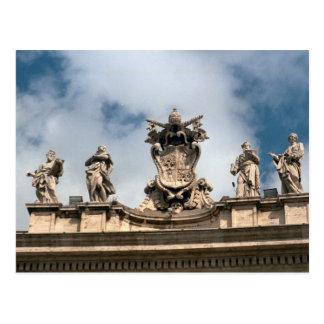 Brazos papales sobre la entrada a San Pedro Tarjetas Postales