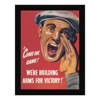 """Brazos para la guerra mundial de la victoria 2 folleto 8.5"""" x 11"""""""