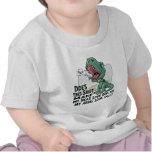 Brazos principales grandes de Lil T Rex pequeños Camisetas