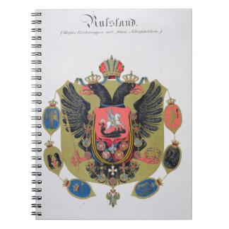 Brazos y escudo del estado de Rusia imperial, f Spiral Notebooks
