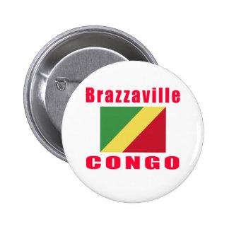 Brazzaville Congo capital designs Button