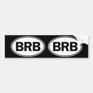 BRB Oval ID Bumper Sticker