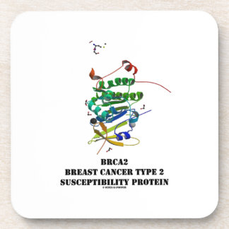 BRCA2 Breast Cancer Type 2 Susceptibility Protein Beverage Coaster