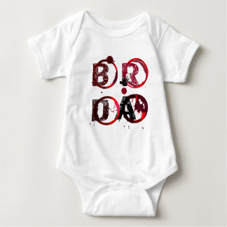Brda wineyards and wine stain 1 baby bodysuit