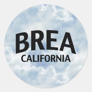Brea California Classic Round Sticker
