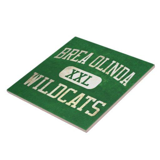 Brea Olinda Wildcats Athletics Large Square Tile