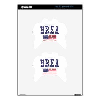 Brea US Flag Xbox 360 Controller Skin