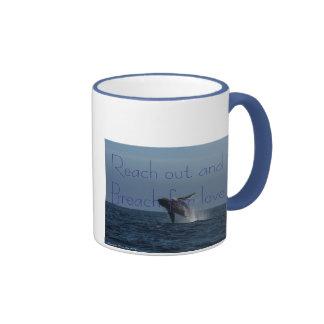 Breach for Love Humpback Whale gifts Ringer Coffee Mug