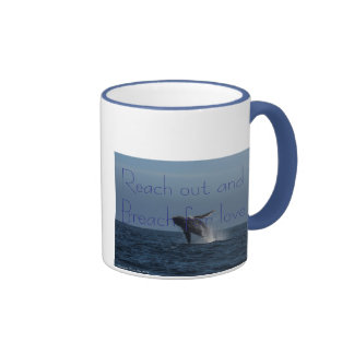 Breach for Love Humpback Whale gifts Ringer Mug