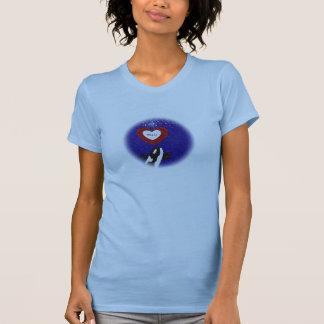 Breach for peace Orca whale heart tee shirt