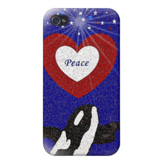 breach for peace orca whale i phone 4 speck case iPhone 4/4S case