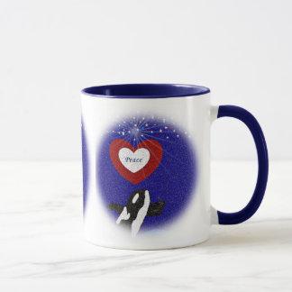 Breach for peace orca whale mug