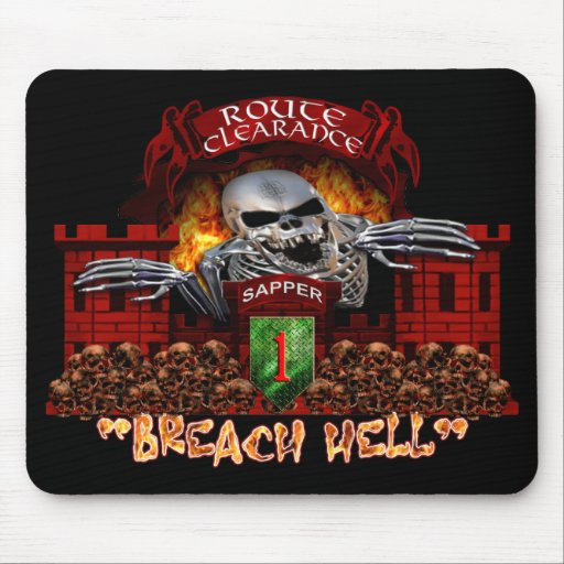 Breach Hell 1st Infantry Division Mousepads