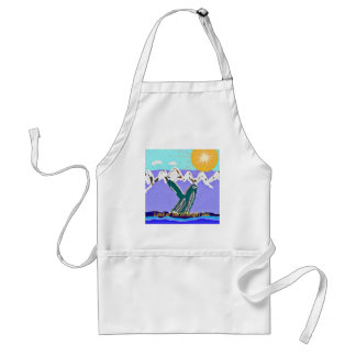 Breach to the Midnight sun Humpback Whale Adult Apron