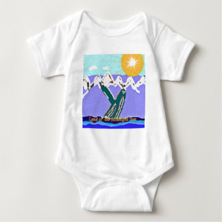 Breach to the Midnight sun Humpback Whale Baby Bodysuit
