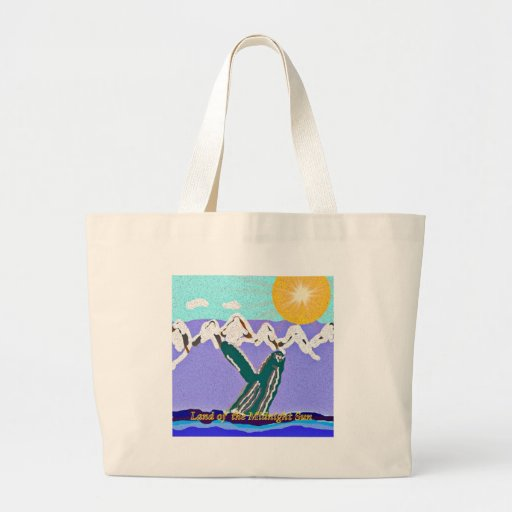 Breach to the Midnight sun Humpback Whale Canvas Bags