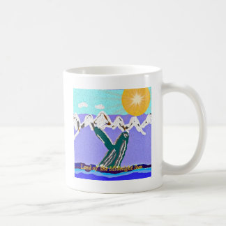 Breach to the Midnight sun Humpback Whale Coffee Mug