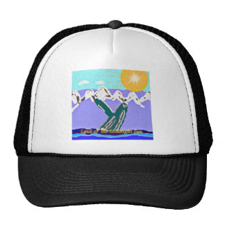 Breach to the Midnight sun Humpback Whale Mesh Hats