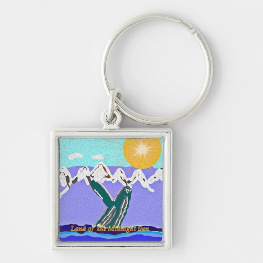 Breach to the Midnight sun Humpback Whale Keychain