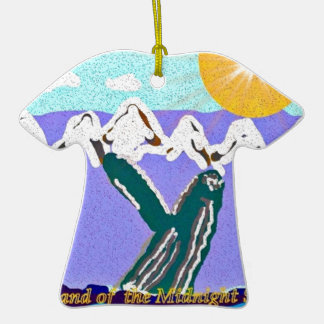 Breach to the Midnight sun Humpback Whale Double-Sided T-Shirt Ceramic Christmas Ornament