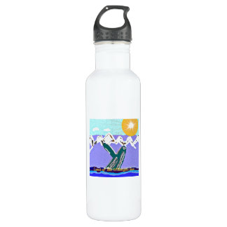 Breach to the Midnight sun Humpback Whale Stainless Steel Water Bottle