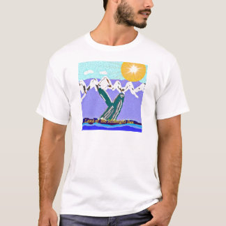 Breach to the Midnight sun Humpback Whale T-Shirt