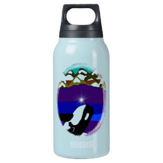 Breach to the Mountains Killer Whale 10 Oz Insulated SIGG Thermos Water Bottle