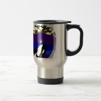 Breach to the Mountains Killer Whale 15 Oz Stainless Steel Travel Mug