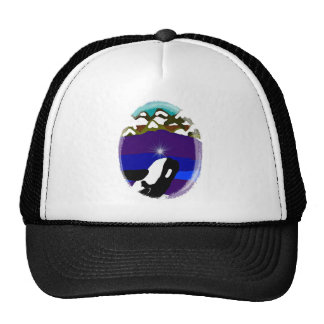 Breach to the Mountains Killer Whale Mesh Hat