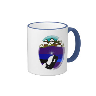 Breach to the Mountains Killer Whale Ringer Coffee Mug