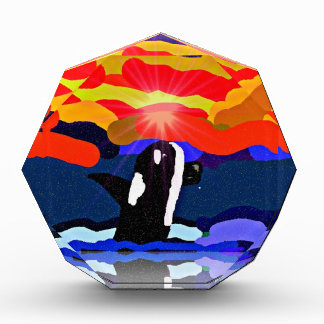breaching for love Orca design gifts Award